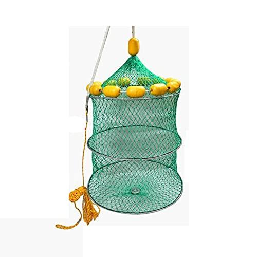 魚捕り網 漁網 折り畳み式 漁具 お魚キラー 釣りネット かご かご 釣具 浮子 浮き ブイ 定置網 捕具 釣り網 網カゴ 仕掛け 直径40CM