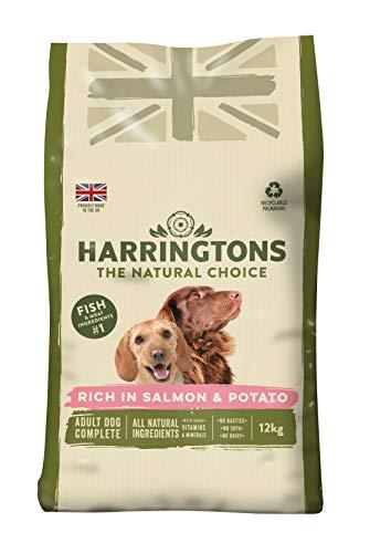 Harrington Complete - Comida para perros, Rico en salmón y papa, 12 kg