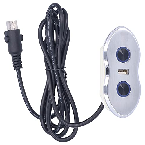 PUSOKEI Controlador De Interruptor De Banco Controlador De Interruptor De Silla Recargable USB Retroiluminación LED Interruptor De Sofá Eléctrico 1.7 Metros / 1.9yd Longitud del Cable De