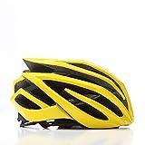 LIUDATOU Casco de Bicicleta de montaña para Hombre/Mujer de Carretera El Mejor Casco de Bicicleta Bicicleta de Casco de Ciclismo de MTB, Amarillo