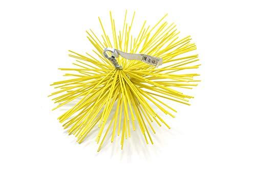 PYRO FEU 862588 Cabezal Deshollinador nailón 250 mm rosca métrica 12, Amarillo