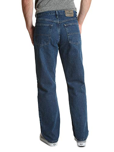 Wrangler Men's Authentics Classic Relaxed Fit Jean, Dark Stonewash, 42W x 29L