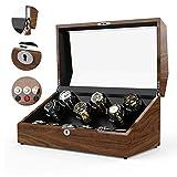 Kücheks Caja de Reloj de Cuerda automática, Caja de Reloj de Reloj mecánico Giratorio Caja de Almacenamiento de Reloj eléctrico 6 + 6 Epítopo Almohada de Mesa de Alta Elasticidad