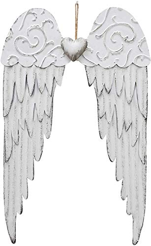 Hanging Shabby Chic Angel Wings Beautifully Distressed Metal Angel Glory Wings Wall Decor Wall Sculpture Vintage Angel Wings Decor