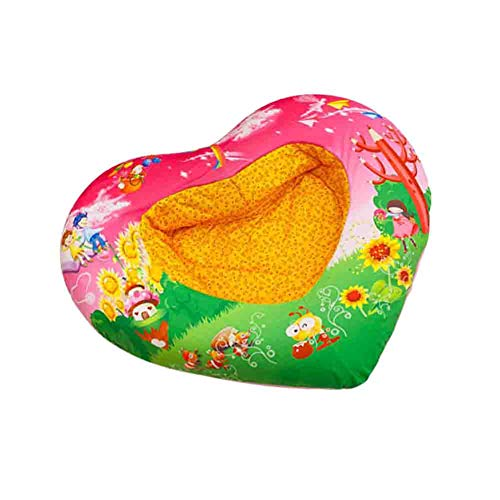 Save %32 Now! Baby Plush Seat Portable Sofa Cartoon Colorful Sitting Learning Inflatable Bed Middle-...