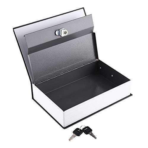 Libro secreto caja fuerte Simulación libro diseño caja de almacenamiento Simulación libro caja fuerte casa (24 x 15,5 x 5,5 cm), color negro