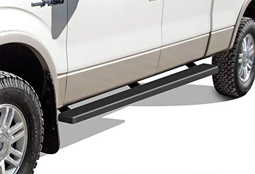 APS iBoard Running Boards (Nerf Bars Side Steps Step Bars) Compatible with Ford F150 2009-2014 SuperCrew Cab (Black Powder Coated 4 inches)