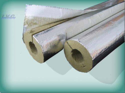 Kaminrohrschale, Rauchrohrisolierung Steinwolle alukaschiert 120 x 30 mm