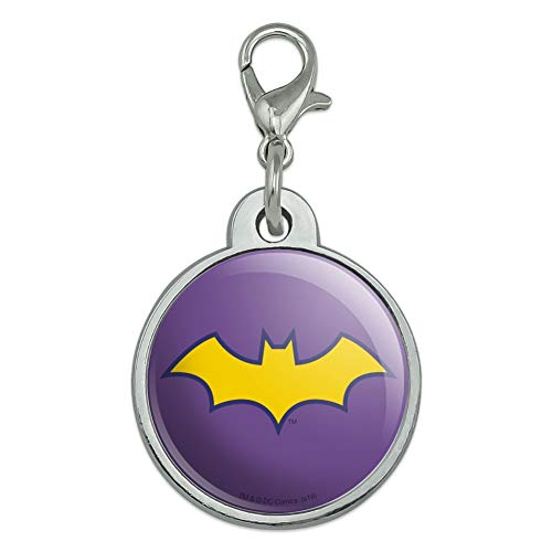 GRAPHICS & MORE Batman Batgirl Logo Chrome Plated Metal Pet Dog Cat ID Tag