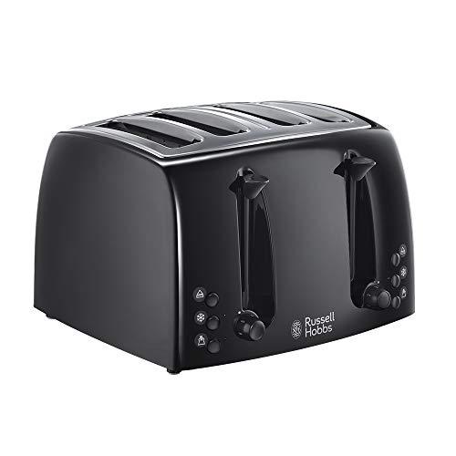 Russell Hobbs 21651 Textures 4-Slice Toaster 21651-Black, Plastic, Black