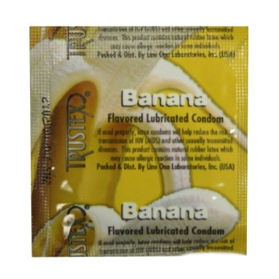 Trustex Banana Flavor Lubricated: 100-Pack of Condoms