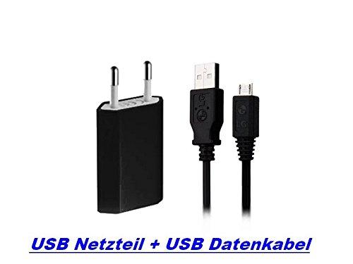 GiXa 3in1 V8 SPAR SET Schwarz Ladegerät Ladekabel Universal USB Netzteil + USB Micro Datenkabel für HTC Sony Ericsson Nokia Huawei