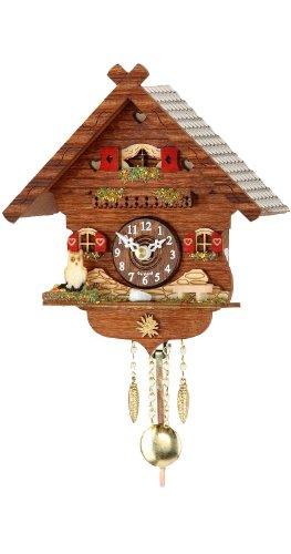 Kuckulino Schwarzwalduhr mit Quarzwerk und Kuckuckruf