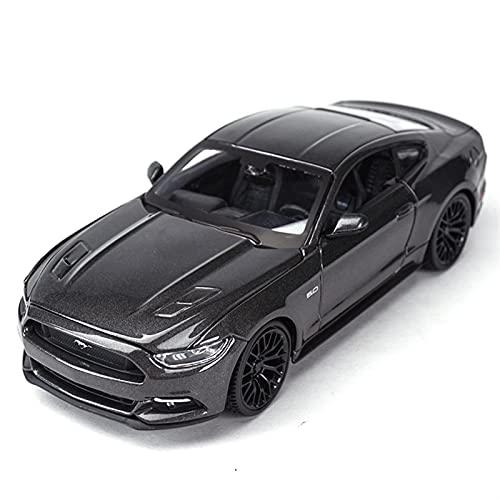MHDXZ 1:24 2015 para Ford Mustang GT aleación Coche Deportivo Modelo Coche Juguete Fundido presión Sonido y luz colección Regalos para niños (Color : Azul)