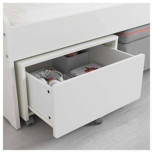 DiscountSeller SLÄKT - Caja de almacenaje con ruedas, 62 x 62 x 35 cm, resistente y fácil de cuidar, camas individuales para niños, camas infantiles, muebles respetuosos con el medio ambiente.