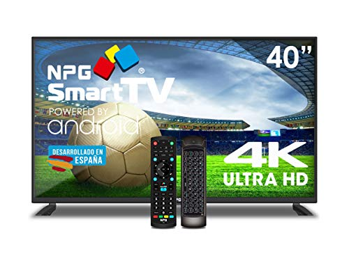 Televisor NPG LED 40' UHD 4K Smart TV Android+ Teclado QWERTY/Motion WiFi TDT2 H.265 PVR