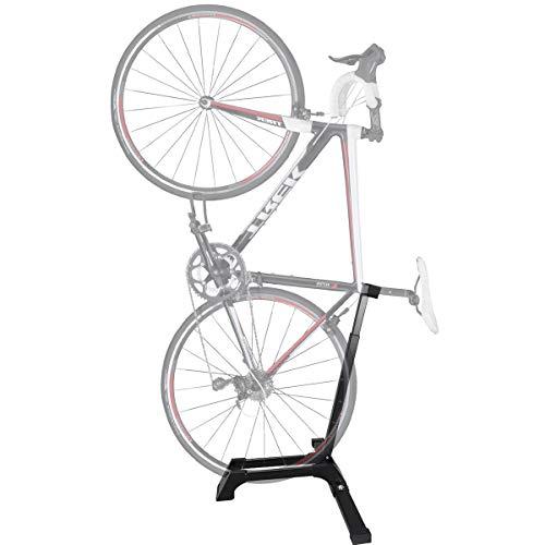 Qualward Bicycle Stand Vertical Bike Rack Adjustable Upright Design, Floor Space Saving for Living Room, Bedroom or Garage