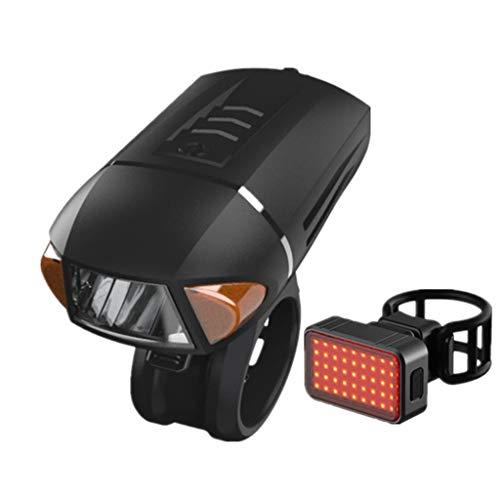 FAPROL Fahrradlicht Mit Rücklicht Drahtlose Fernbedienung Fahrrad Scheinwerfer USB-Lade Wasserdicht 1800mAh Leistungsanzeige E Set