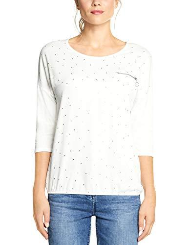 Cecil Damen 314010 T-Shirt, Mehrfarbig (Pure Off White 20125), Medium (Herstellergröße:M)