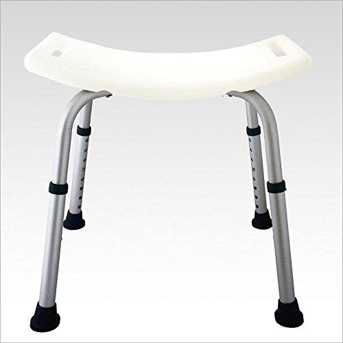 Sgabello sedile per doccia bagno colore: bianco -...
