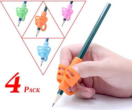 Pencil Grips - Children Pen Writing Aid Grip Set Posture Correction Tool for Kids Preschoolers Children,Hollow Ventilation (Pencil Grips 4P)
