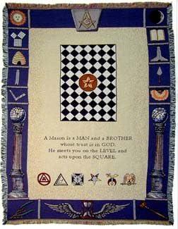 Masonic latest Symbols Mason Masons Cotton Throw Blanket Discount mail order