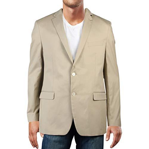 Lauren Ralph Lauren Mens Stretch Suit Separate Two-Button Suit Jacket Tan 44R