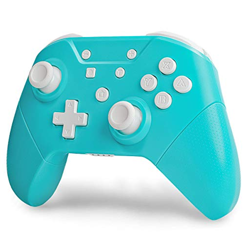 (Latest Version) Switch Controllers for Switch/Switch Lite, Wireless Pro Controller Joypad with NFC and Home Wake-Up Function,Support Gyro Axis, Turbo and Dual Vibration