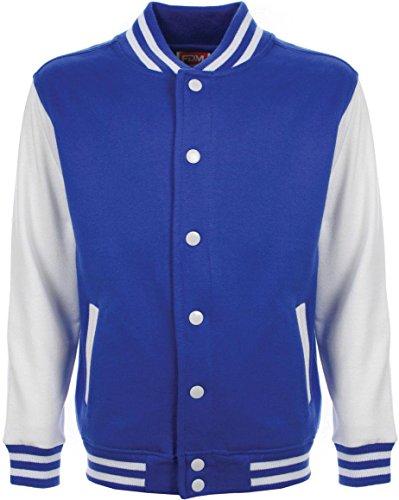 normani College Jacke/Freizeitjacke - für Kinder Farbe Royalblau/Weiß Größe 104