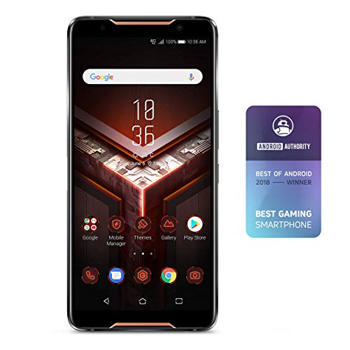 ASUS ZS600KL-S845-8G128G ROG Gaming Smartphone 6' FHD+ 2160x1080 90Hz Display - Qualcomm SD 845 - 8GB RAM/128GB Storage - LTE Unlocked Dual SIM (GSM Only), Black (Renewed)
