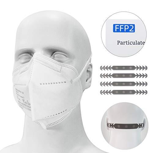 Maske 20 Stück Schutzmaske Atemschutzmaske, Mund-und Nasenschutz hautfreundlich und weich im Inneren, 5-lagige Staubschutzmaske Partikelfiltermaske, Zertifikat CE 0082