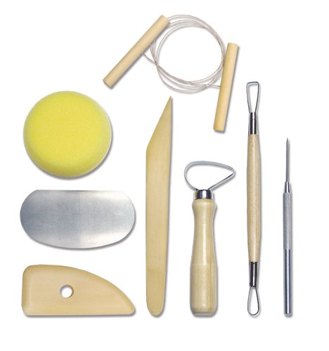 Royal & Langnickel RSET-POT1 - Set completo de herramientas para cerámica, 8 piezas