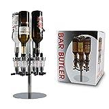 Dispensador de licor de 6 botellas, montado en la pared, dispensador giratorio de bebidas con alcohol y cerveza, dispensador de chupito de whisky giratorio para bebidas y licor, whisky de PERA