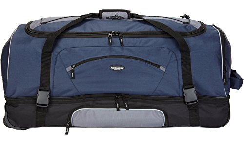 "Travelers Club 36"" ADVENTURE Travel Rolling Duffle Bag, Blue"