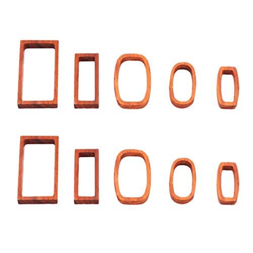 EXCEART 10 Piezas de Marcos de Sándalo Molde de Resina Base de Madera Colgante de Ajuste de Bisel para Joyería Suministros para Collar de Manualidades DIY