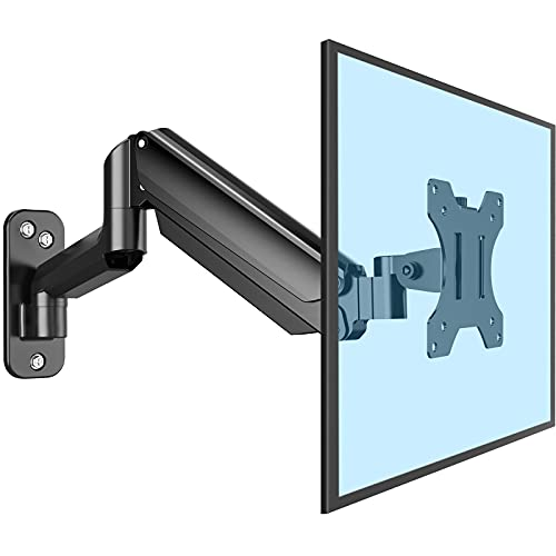 ErGear Soporte de Pared Monitor Para 13''-32'' Soporta Ultra Monitores Gas Con Tecnología de Giro ±45° Inclinación ±35° de Arriba abajo Rotación de 360° Compatible 4 Tipos de VESA Peso Máximo 8KG