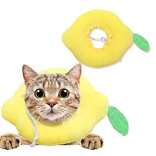 Collar de recuperación para Mascotas,Collar de protección para Mascotas Collar de gato suave protector después de la cirugía, cuello ajustable de curación Elizabeth cómodo cono de algodón( 28cm)