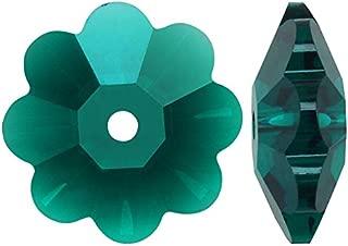 Swarovski Crystal Margarita 3700 8mm EMERALD Beads (12)