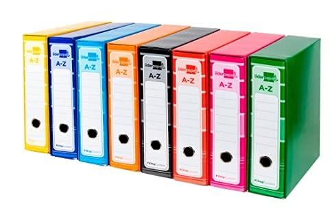 20 archivadores de palanca A4 forrado sin rado lomo 80mm con caja, color surtido.