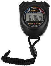 Stopwatch Handheld Digitale Lcd Sport Stopwatch Chronograaf Teller Timer Zwart