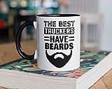 Taza de café con texto en inglés 'The Best Truckers Have Beards', divertida taza para camioneros, regalos para semicuatrimotos, para campamento, vaso