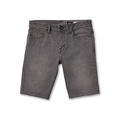 Volcom Solver Denim Short Pantalón Corto, Hombre, Grey Vintage, 34