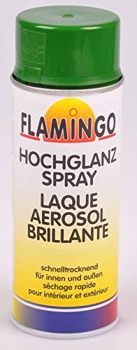 Unbekannt Flamingo Kunstharz-Lackspray 400ml Farbspray Sprühdose Lack matt glänzend, Farbe:RAL 6002 laubgrün glänzend
