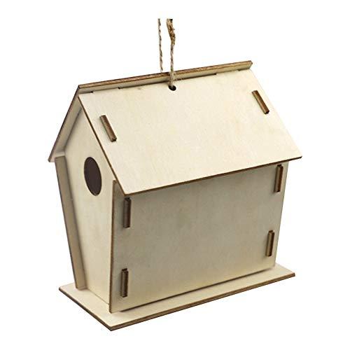 Soldmore7 Vogelhaus Kit Mädchen Jungen DIY hängenden Garten Haustier liefert Farben Pinsel Home Handwerk malen Vogelhaus für Kinder Gebäude Holzkunst einfach zusammenbauen