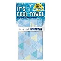 日繊商工 イッツクールタオル 熱中症対策 冷却タオル 暑さ対策 (クールトライアングル ブルー)