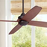 """52"""" Impel Mission Ceiling Fan Oil Rubbed Bronze Walnut Wood for Living Room Bedroom - Casa Vieja"""