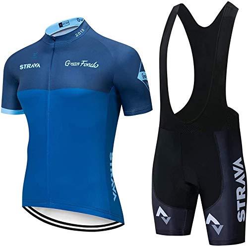 KUANDARGG Camiseta Manga Corta Bicicleta de Carretera Camiseta de Ciclismo Jersye +...