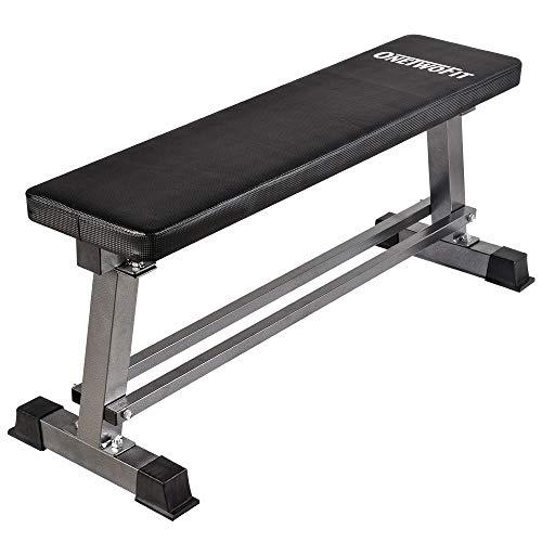 Onetwofit - Hantelbank zum Gewichtheben, für Bauchmuskelübungen mit Hantelstange, Kapazität 300 kg, OT070, grau