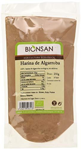 Bionsan Harina de Algarroba Ecológica - 6 Bolsas de 250 gr - Total : 1500 gr