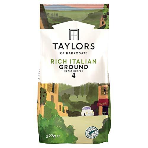 Taylors Of Harrogate Rich Italian Ground Coffee, 227 g (Pack of...